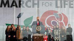 Trump, primer presidente de EE.UU. que participa en una marcha contra el aborto