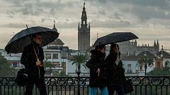 Lluvia fuerte en el tercio suroeste andaluz, sobre todo en Málaga