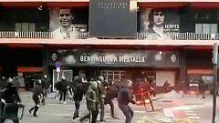Un detenido y sesenta identificados tras pelea entre radicales ante Mestalla