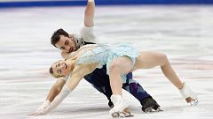 Olivia Smart y Adrià Díaz acaban octavos en el Europeo de patinaje
