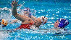 Final España vs Rusia: máxima igualdad al final de la primera parte (8-8)