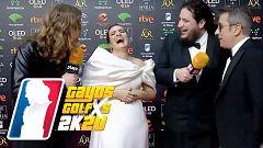 Goyas Golfxs 2020- Las coincidencias de los vestidos de Silvia Abril y Dulceida