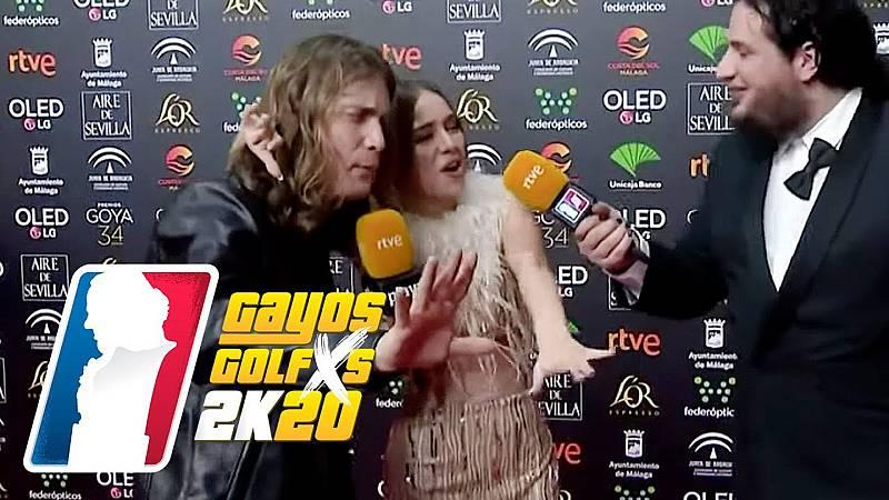 Grison y Caravaca 'asaltan' a la cantante Ana Mena y hacen que la entreviste la actriz Cristina Castaño.