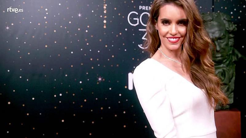 Premios Goya ¿ Ona Carbonell, en la cámara glamur, antes de su intervención en la gala de los Goya