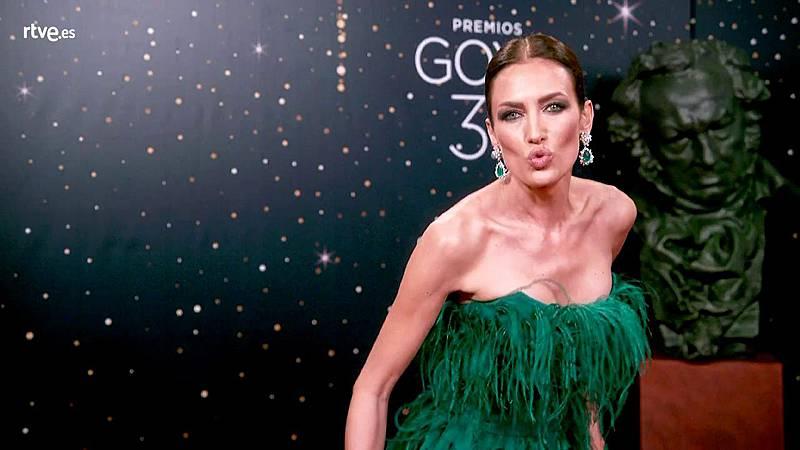 Premios Goya - Así posa Nieves Álvarez en la cámara glamur de los  Goya