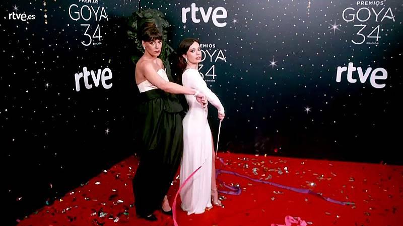 Premios Goya - Belén Cuesta y Anna Castillo comparten la cámara glamur de los Goya