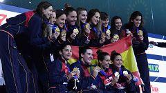 La selección española de waterpolo logra su séptima medalla en ocho años