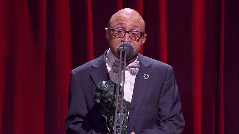 Jesús Vidal abre la gala de los Goya 2020 simulando que sigue agradeciendo su premio a actor revelación