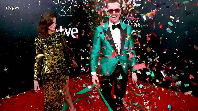 Premios Goya- Macarena Gómez y Aldo Comas, los más divertidos en la cámara glamur