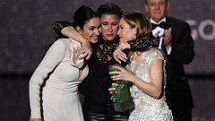 """Celia Flores, Tamara Esteve y María Esteve recogen el Goya de Honor a Pepa Flores: """"No nos podemos sentir más orgullosas"""""""
