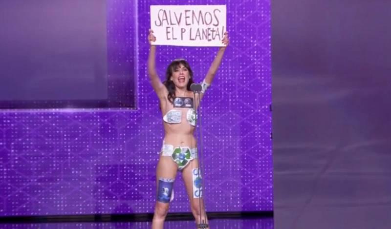 Una activista contra el cambio climático protagoniza uno de los mejores momentos de la gala de los Goya