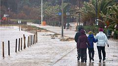 La borrasca Gloria deja cuantiosos daños materiales en Málaga