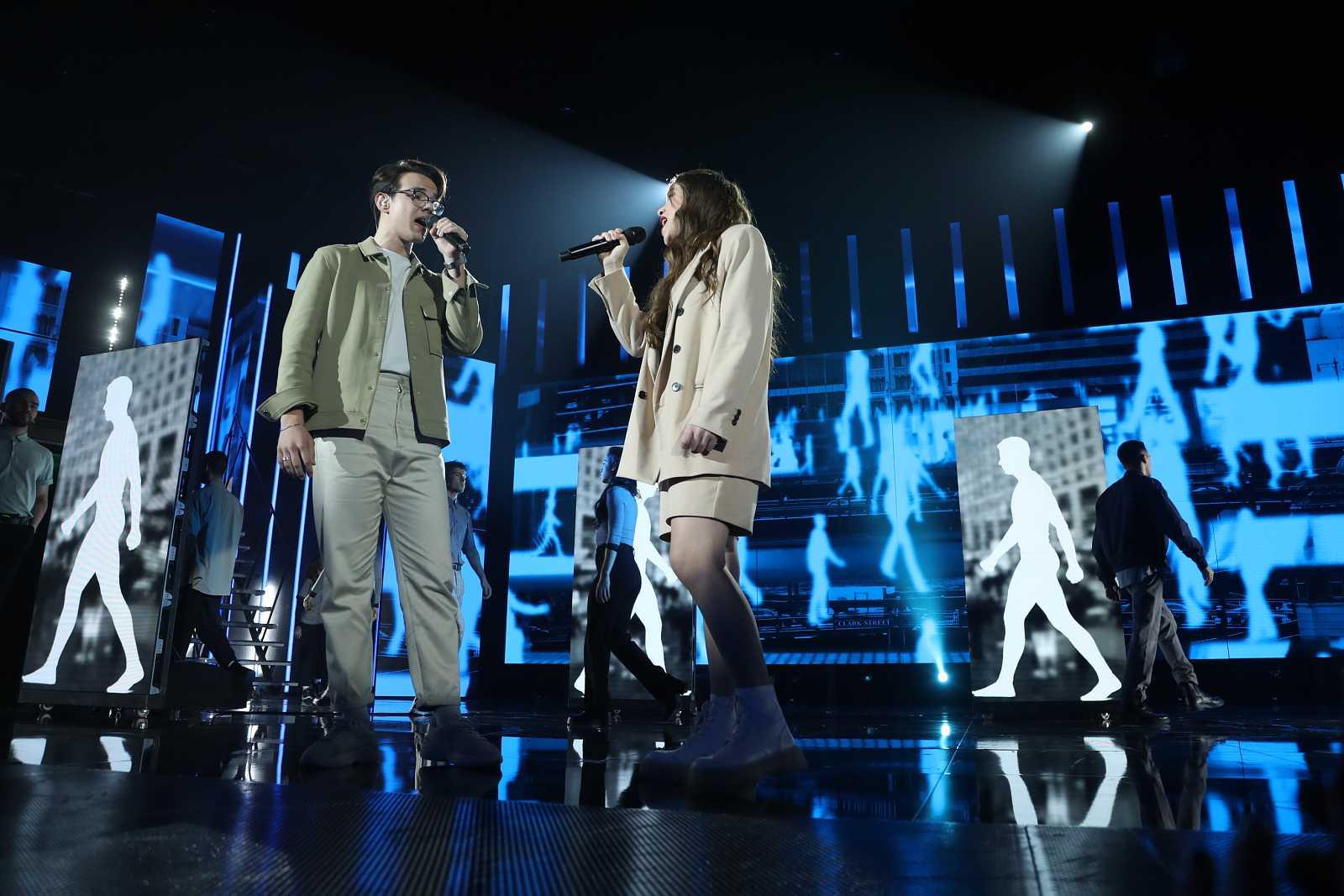 """Eva y Flavio cantan """"Copenhague"""", de Vetusta Morla, en la Gala 2 de """"Operación Triunfo 2020"""""""