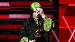 Billie Eilish arrasa en los Grammy y gana en las cuatro categorías principales