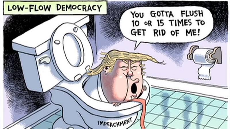 Las caricaturas e ilustraciones que retratan el 'impeachment'