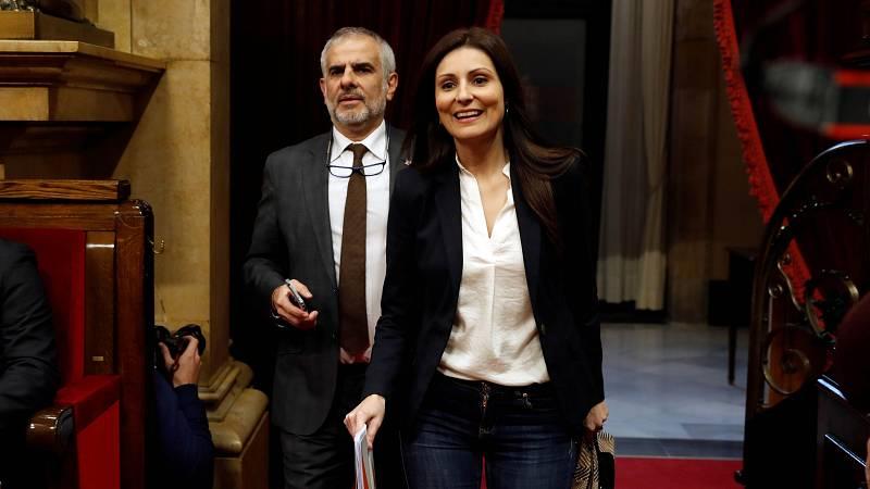 """Lorena Roldán, portavoz de Cs en el Parlament: """"El señor Torra no puede ejercer ningún cargo público"""""""