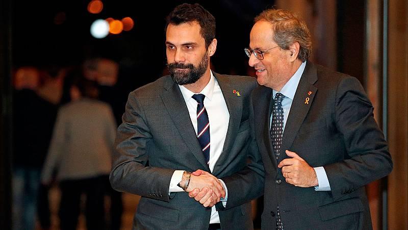 La suspensión de Torra y su anuncio de elecciones, golpe definitivo a la coalición de Junts y ERC en Cataluña