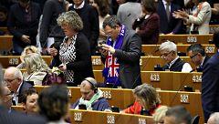 Los eurodiputados británicos se despiden del Parlamento Europeo ante el 'Brexit'