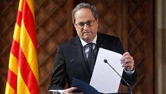 Torra convocará elecciones en Cataluña tras la aprobación de los presupuestos en el Parlament