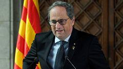 Torra anuncia que adelantará las elecciones en Cataluña cuando se aprueben los presupuestos