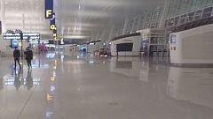 El aeropuerto de Wuhan completamente vacío