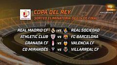 Real Madrid - Real Sociedad y Athletic - Barça, duelos destacados de los cuartos de Copa