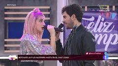 """OT 2020 - Javy y Samantha cantan """"Sin miedo a nada"""" en El Chat 3 y Javy gana el karaoke"""