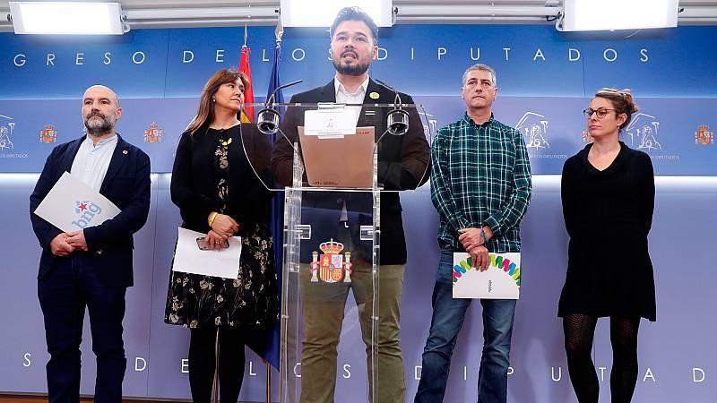 """Manifiesto de los partidos independentistas en la apertura de las Cortes: """"No tenemos rey"""""""
