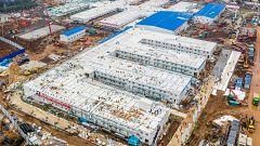 China construye un hospital contra el coronavirus en solo diez días