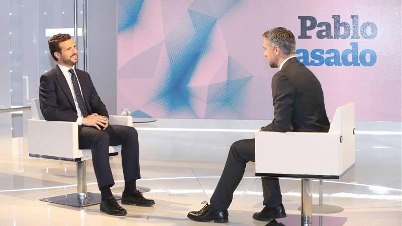 """Casado anuncia que el PP presentará este martes la denuncia contra Torra por """"usurpación de funciones"""""""