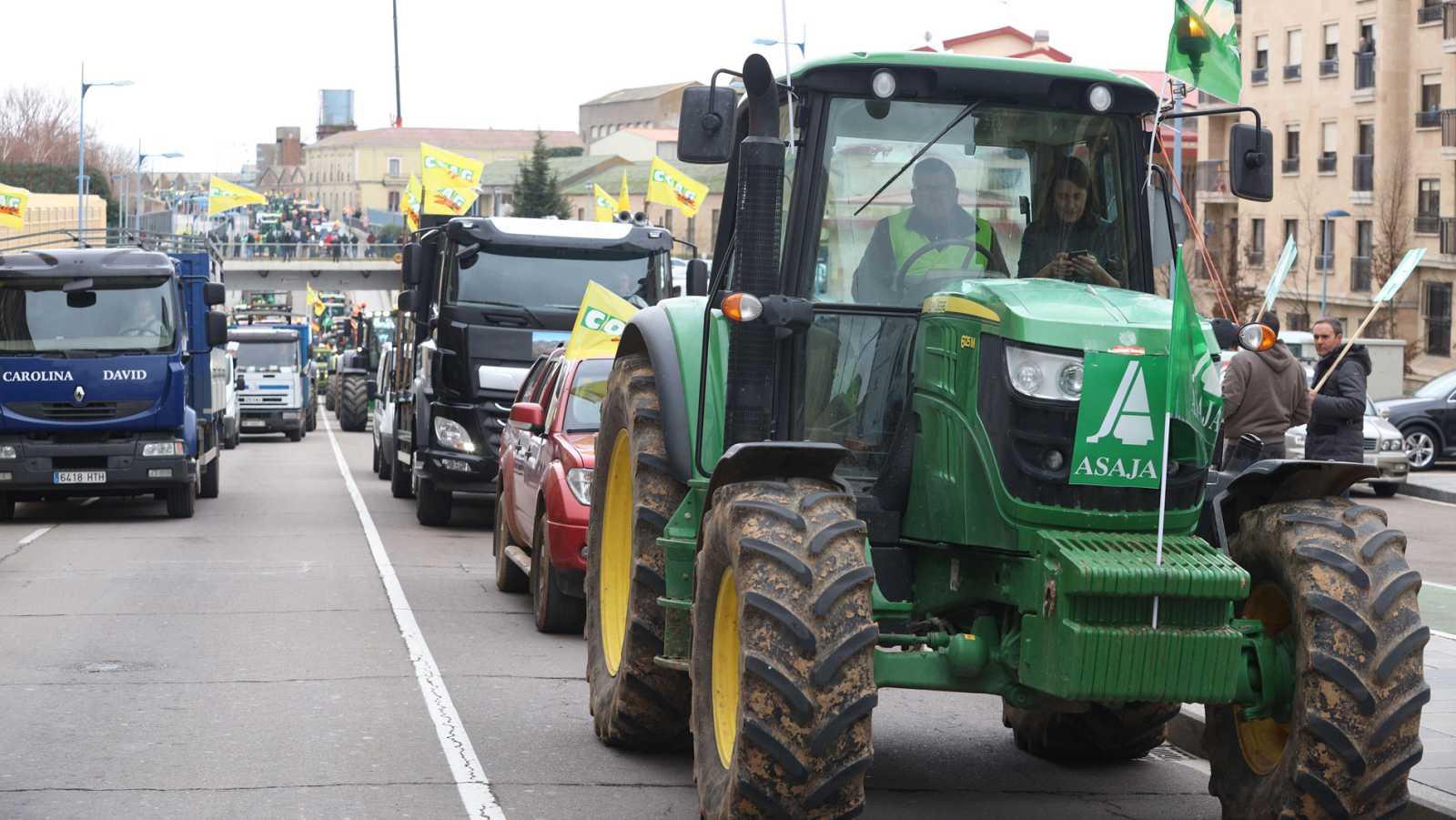 Manifestación de agricultores en Toledo