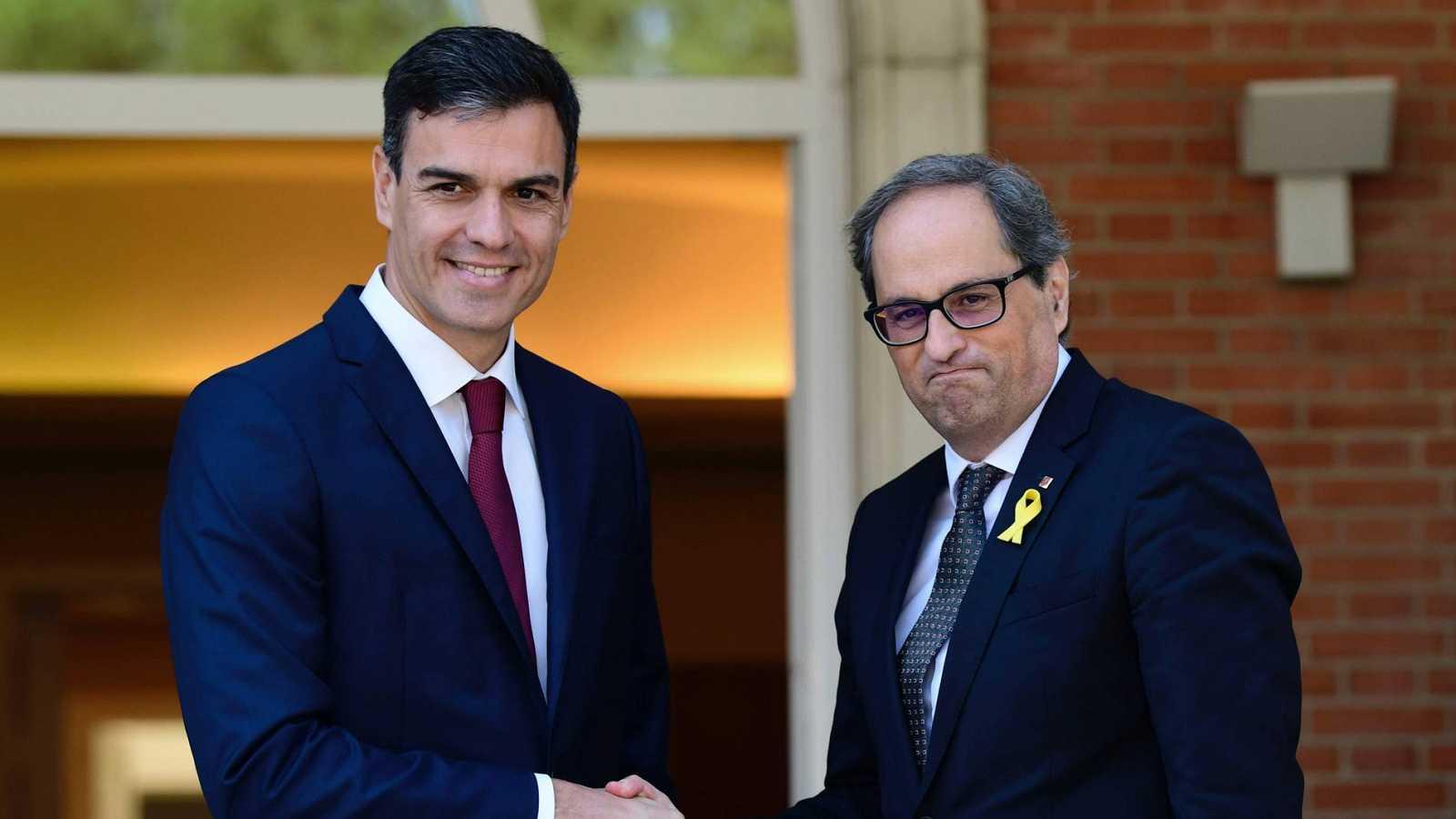 """El Gobierno reconoce que será """"difícil"""" que la reunión entre Sánchez y Torra """"dé fruto en el corto plazo"""""""