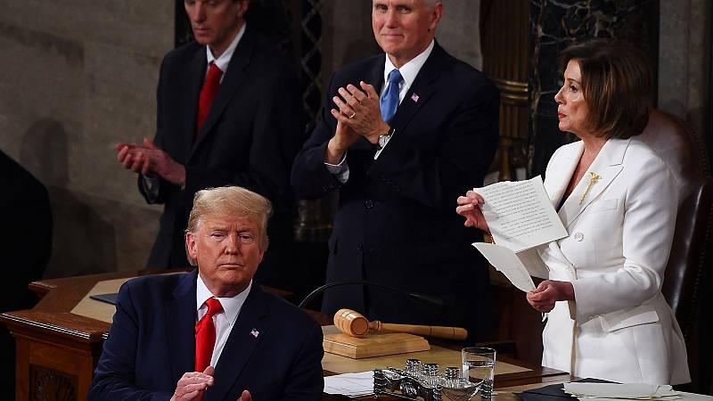 Trump obvia el 'impeachment' en su discurso ante el Congreso sobre el Estado de la Unión