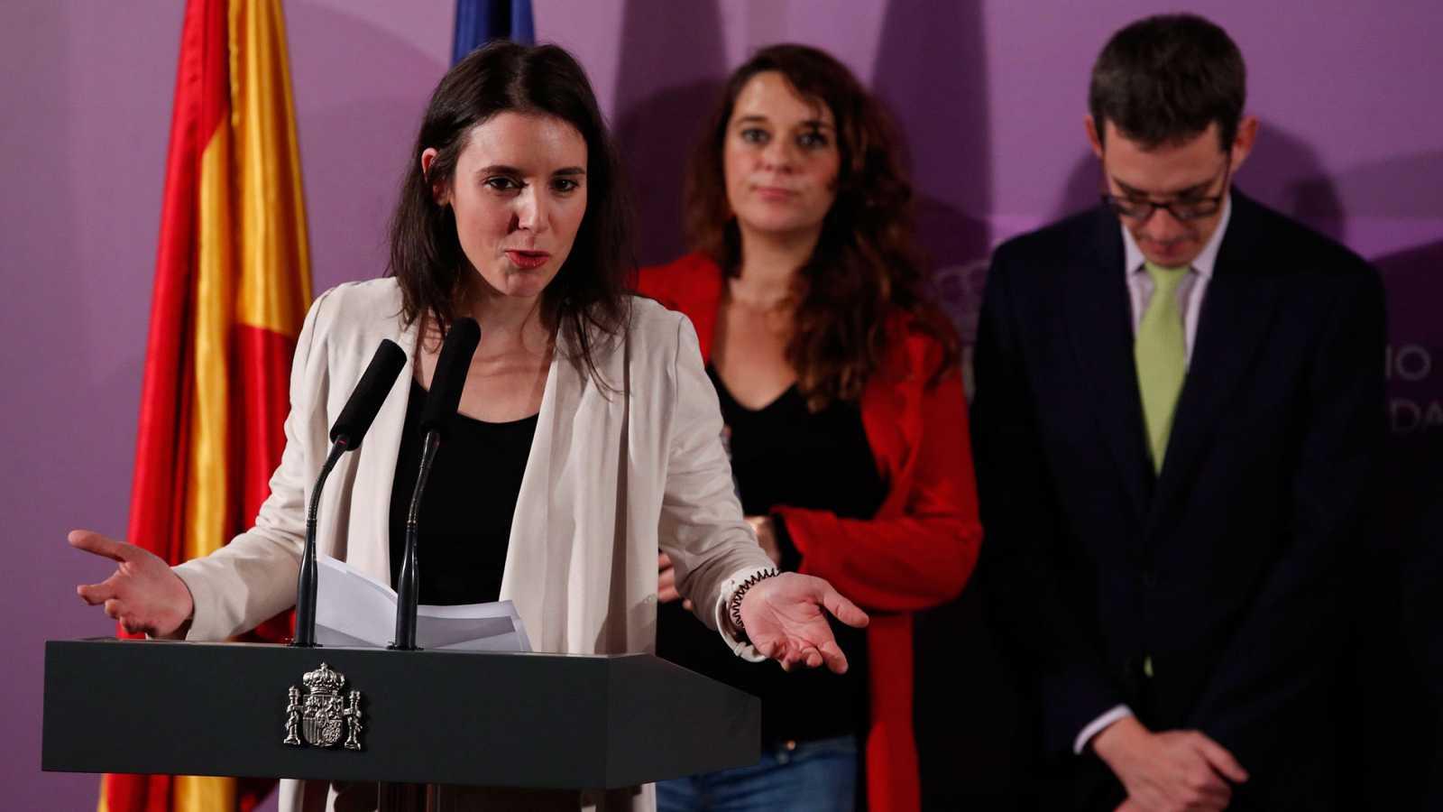 """Irene Montero avanza que """"en cuestión de semanas"""" impulsará la ley de libertades sexuales"""