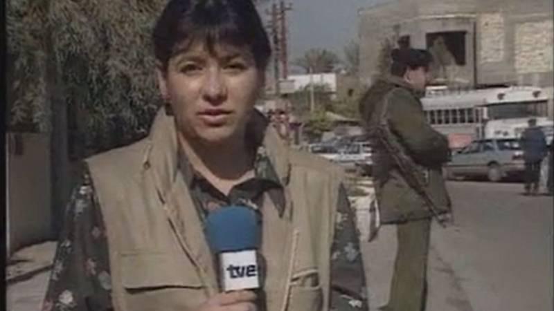 Telediario - La última conexión de Ángela Rodicio desde Bagdad