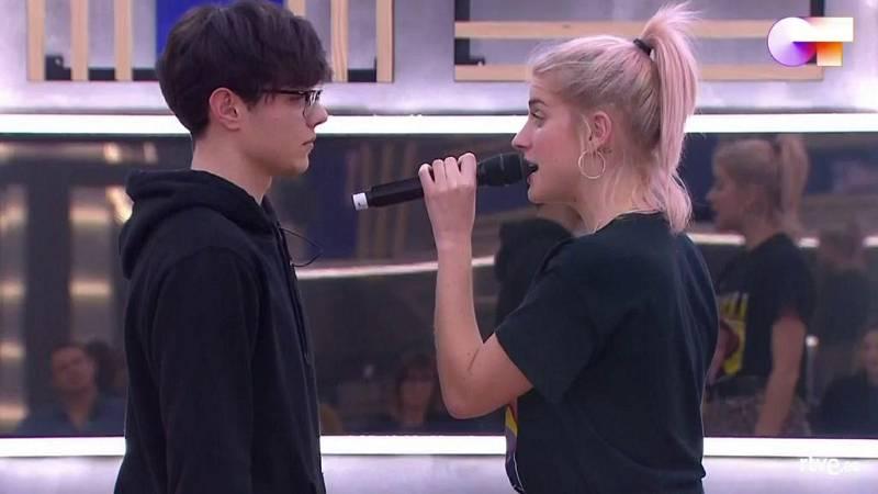 """Samantha y Flavio cantan """"Call me maybe"""" en el primer pase de micros de la Gala 4 de Operación Triunfo 2020"""