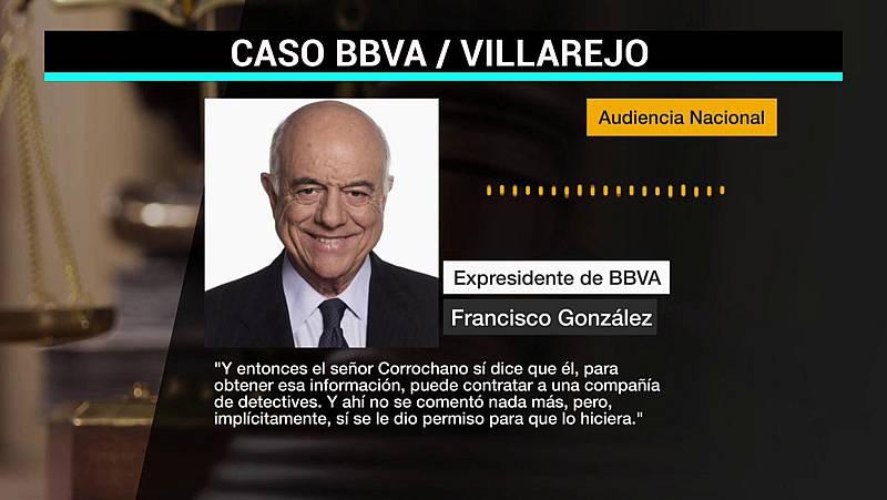 """Francisco González reconoce que dio permiso """"implícitamente"""" para la contratación de detectives en el BBVA"""