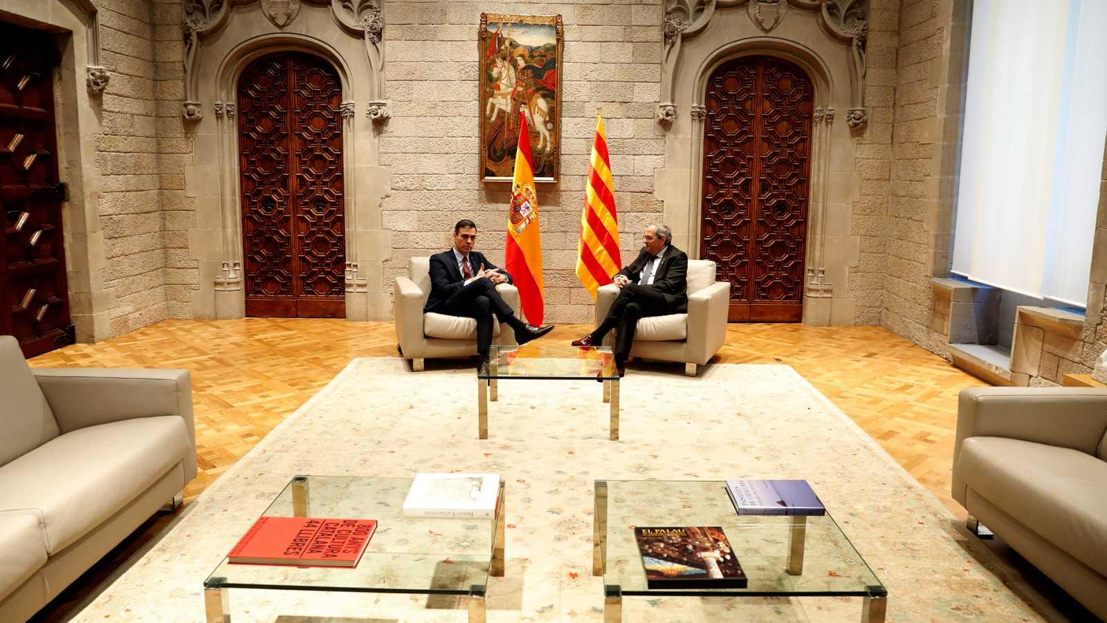 """Sánchez presenta una agenda de temas para el """"reencuentro"""" con el Govern"""