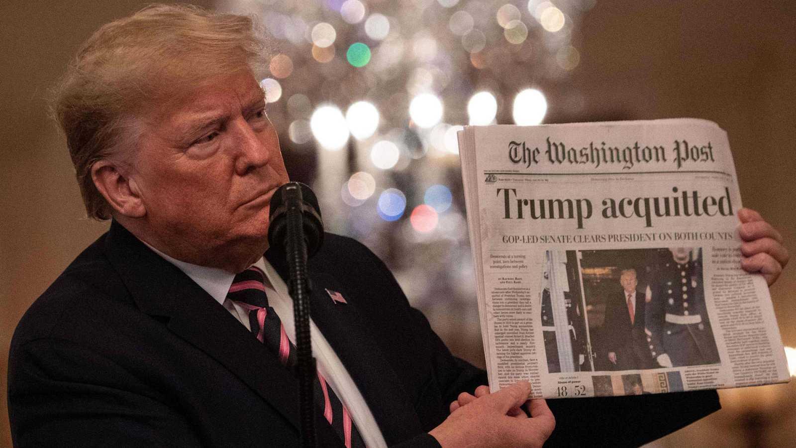 Trump celebra su absoluci�n en el juicio pol�tico