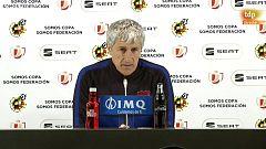 """Quique Setién: """"Lo teníamos absolutamente controlado pero el gol ha llegado en un momento que no había reacción"""""""