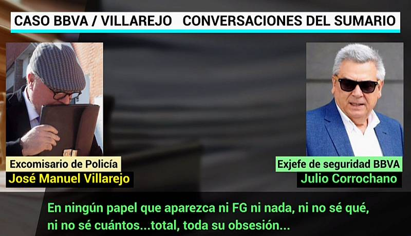 El exjefe de Seguridad del BBVA pidió a Villarejo que no escribiera en los informes el nombre de Francisco González