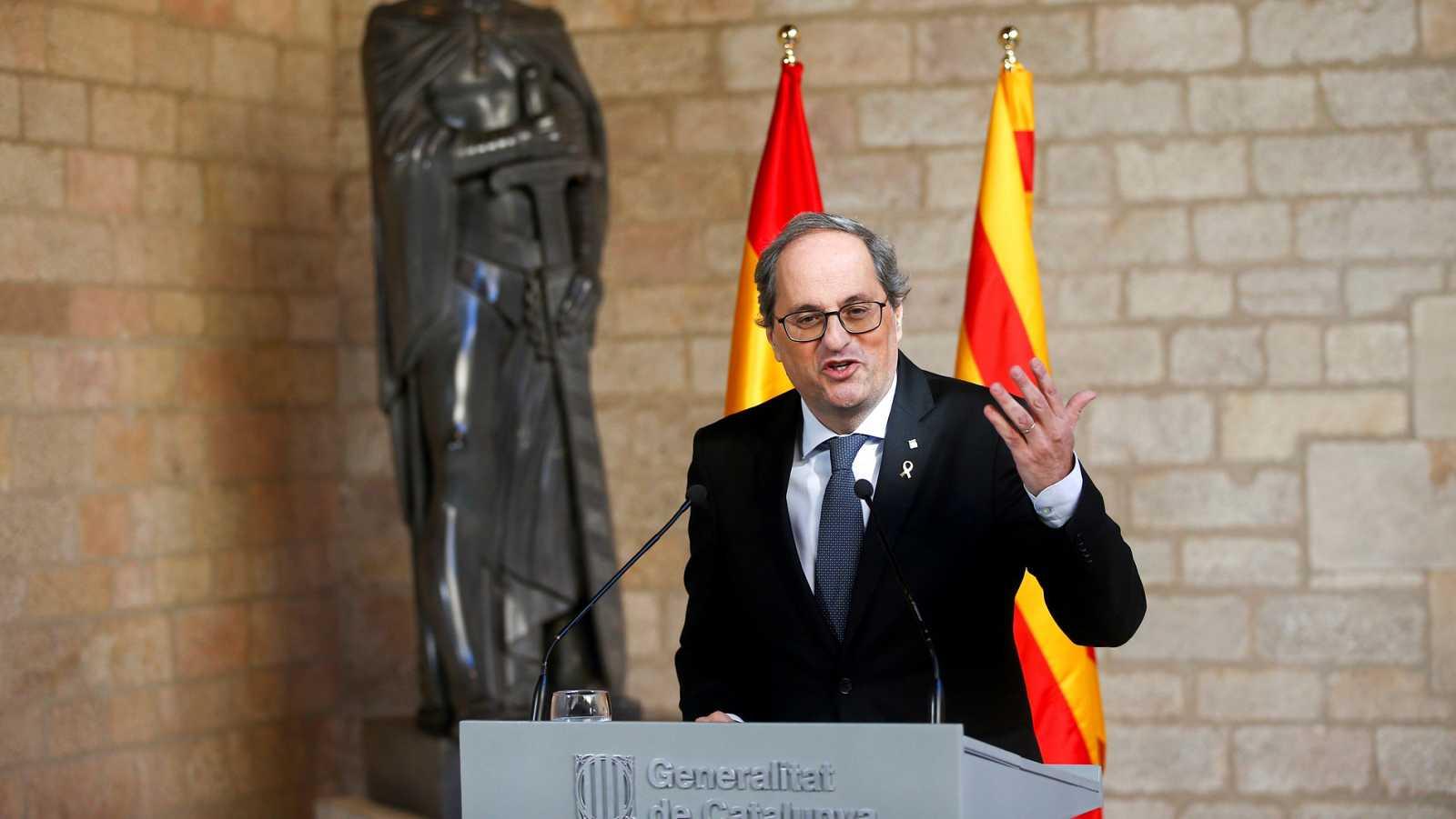 """Torra exige un """"mediador internacional"""" para la mesa entre gobiernos tras recibir el aval del Parlament"""