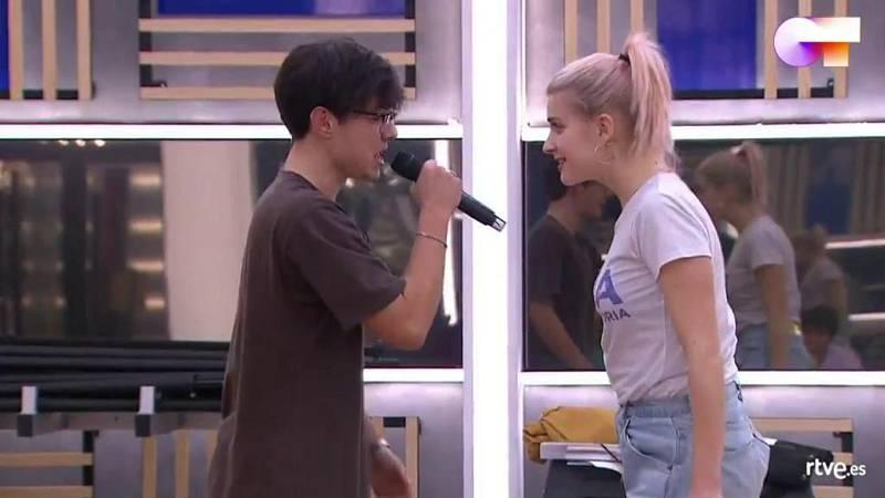 """Samantha y Flavio cantan """"Call me maybe"""", de Carly Rae Jepsen, en el segundo pase de micros de la Gala 4 de Operación Triunfo 2020"""