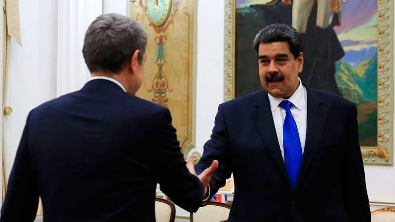 Zapatero se reúne con Maduro en Venezuela