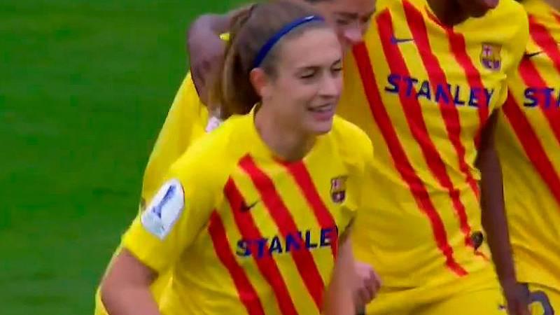Gol de Alexia Putellas (0-2) en la final de la Supercopa