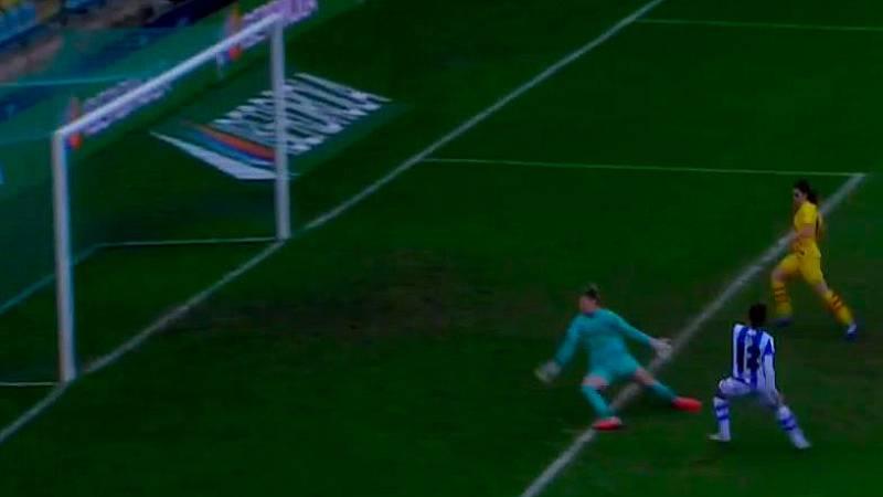 Gol de Manu (1-8) en la final de la Supercopa