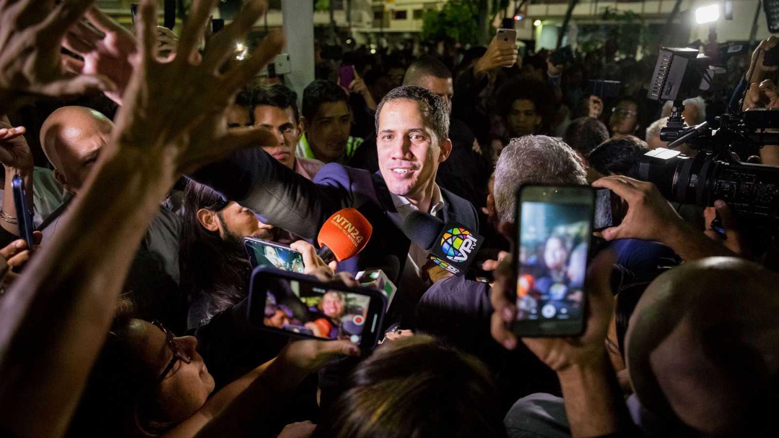 La llegada de Guaidó a Caracas se salda con altercados