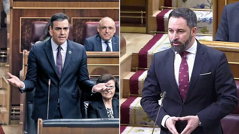 """Abascal acusa a Sánchez de """"mentir"""" sobre el encuentro entre Ábalos y la vicepresidenta de Venezuela y le insta a dimitir"""