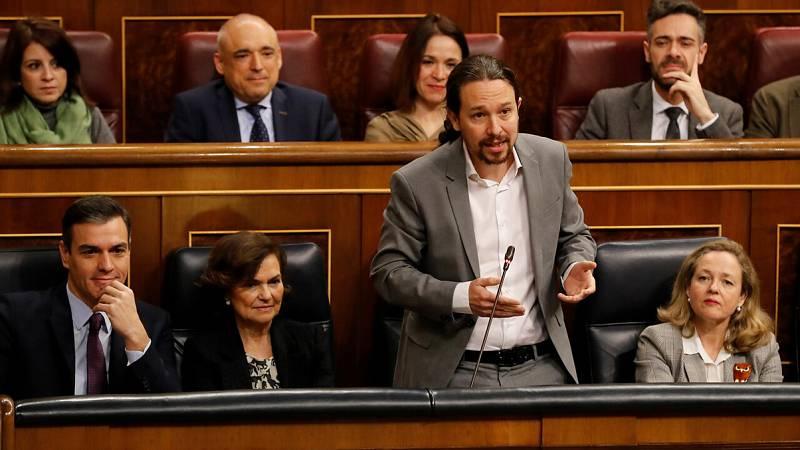 Iglesias se estrena en la sesión de control al Gobierno respondiendo a García Egea
