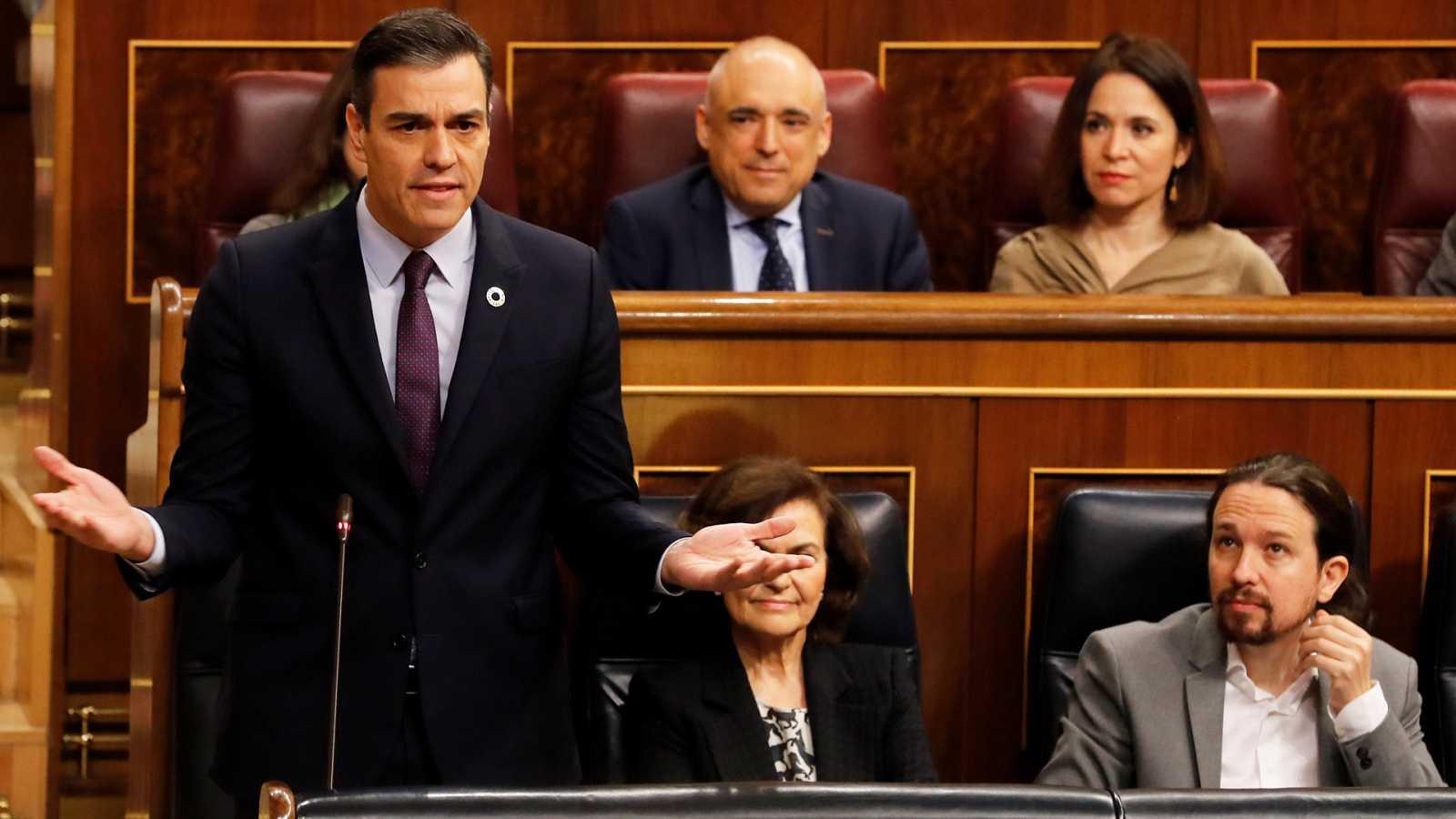 """Sánchez se refiere a Guaidó como """"líder de la oposición"""" en Venezuela"""